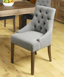 Soni Art Exports Brown Color Forenza Upholstered Wooden Chair 20x21x37 inch