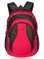 Polyester Red & Black Red & Black Storm Laptop Backpack Bag