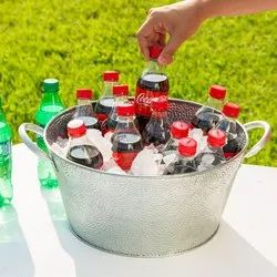 Galvanized Steel Round Beverage Party Tub