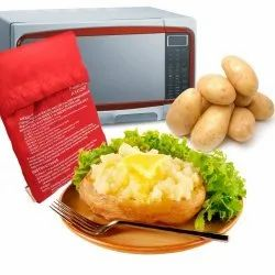 Tallin Red Microwave Potato Cooking Bag Cooker For Boil Potato In Microwave Without Water