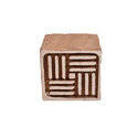 Wooden Henna Square Shape Stamp