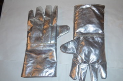 Aluminised Heat Protection Gloves With Thick Blanket Interline