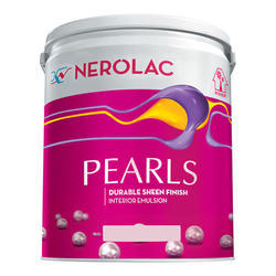 Nerolac Pearls Interior Emulsion Wall Paint, Packaging Type: Bucket