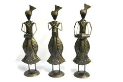 Punjabi Designed Figurine Set Of 3 Home, Bedroom, Hallway Decor