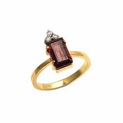 Garnet and Zircon Gemstone Ring