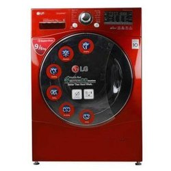 LG 9 kg Fully Automatic Front Load Washing Machine, F14A8RDS29, Apple Red