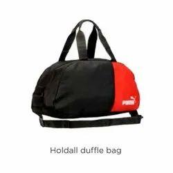Red & Black Polyester Puma Holdall Duffle Bag