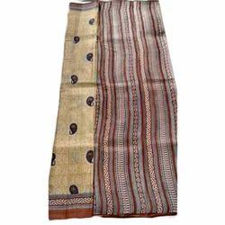 Ladies Tussar Silk Printed Designer Saree, Length: 6.3 m