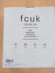 Regular Fit FCUK Mens Short Sleeves Tshirt