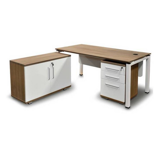 Wooden And Metal L Shape Front Desk Table Rs 45500 Piece Id