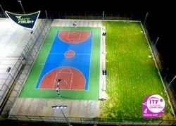Pace Court Outdoor Acrylic Basketball Construction, in India