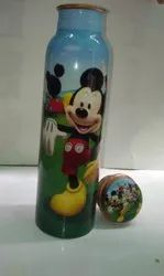 Micky Mouse Cartoon Print Bottle