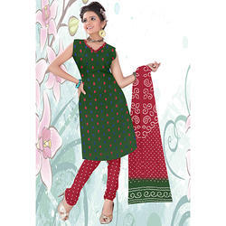 Green Bandhani Print Suit