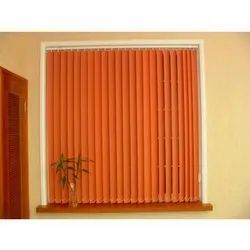 Vertical Orange Interior Venetian Window Blinds