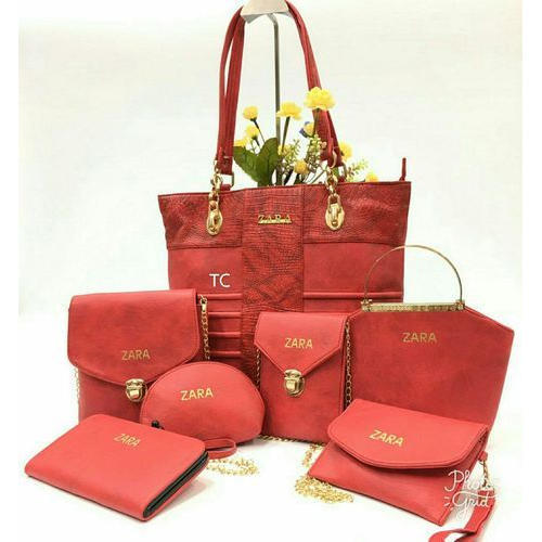 cb49b697f Zara Ladies Handbag Set Of Seven - Designer Ladies Combo Bags ...