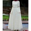 Ladies White Designer Dress