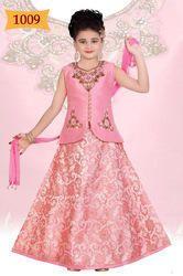 Kids Designer Pastel Pink Lehenga Choli