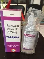 PARAWAY Paracetamol Infusion, For commercial, Packaging Type: 100 Ml