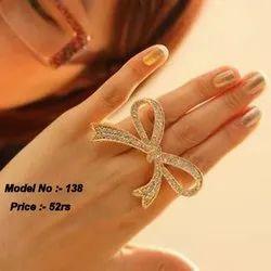 Alloy Golden Knot Ring