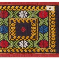 Embroidered Rectangular 34 X 72 Inch Cotton Silk Jamakkalam Carpet, For Home, Weave: Hand Weave