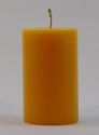 Orange Plain Pillar Candles