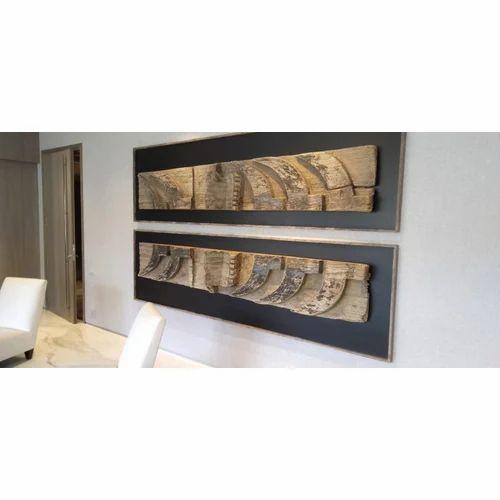 Raw Wood Modern Living Room Showpiece