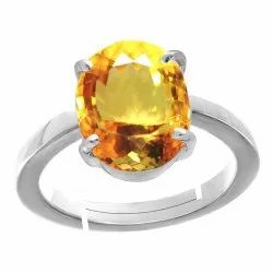 Citrine Ring Silver Gemstone