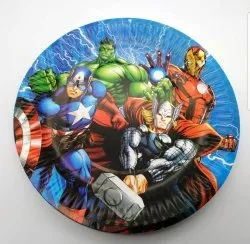 DISNEY Avengers Cartoon Character Party Paper Plates, GSM: 300, Size: 6-12 inch