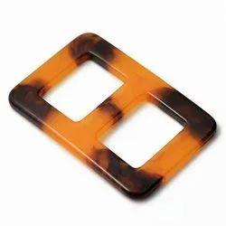 Plain Brown Resin Belt Buckle, Packaging Type: Box
