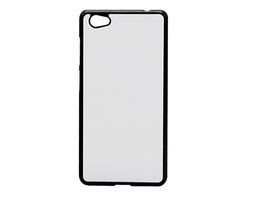 White and Black Plastic Sublimation Vivo 2D Mobile Cover