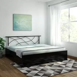 CSFI Powder Coated Metal Bed, For Home, Size: 6 X 5