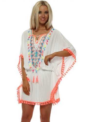 12b37aafff2 Beachwear Half Sleeves Rayon Embroidery Kaftan, Size: XL & XXL, Rs ...