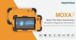 Mantra MOXA7 Portable Biometric Fingerprint Machine For EKYC And Document Scanning