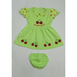 Cherry Printed Baby Frock