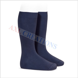 Cotton AXL Navy Blue Sock, Size: Free, Packaging Type: Packet