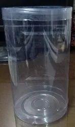 600 ml PVC Cylindrical Food Box
