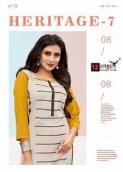 12 Angel Presents Heritage Vol.7 Dailywear Kurti With Palazzo Collection for Womens