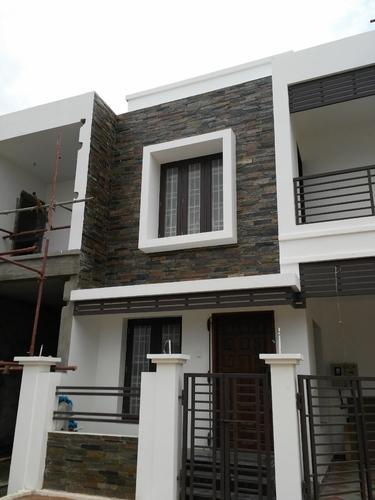 House Front Wall Elevation : Tiles design for home front wall review decor