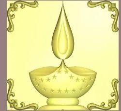 Deepak Lamp 3D Design, CNC Router 3D Design Services