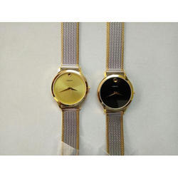 Crony Men Designer Silver Tone Chain Wrist Watch