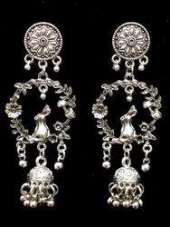 Oxidized Jhumkas Earrings