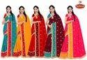 Dyed Chiffon Embroidery Saree - Betaab
