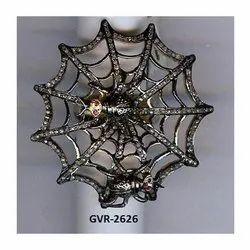 Designer Animal Spider Web Pave Mughal Cut Diamond Ring