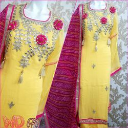 Georgette Hand Work Suits W-670