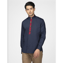 Green Hill Men''S Designer Navy Blue Shirt