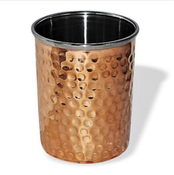 Copper Steel Hammered Glass, For Home