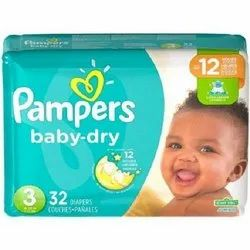 Pampers Baby Diapers, Age Group: 3-12 Months, Packaging Size: 32 Pieces