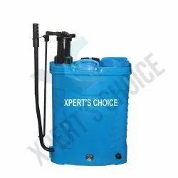 PVC Blue Battery Sprayer 2 In 1 Pump