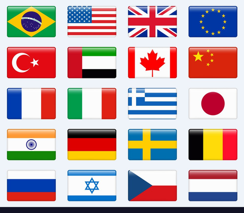 World Country Flags -Maritime Flags