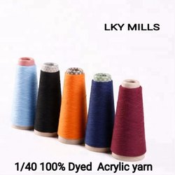 1/40 Acrylic Dyed Yarn 40/1 or 40